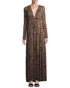 Rachel Pally Leopard-Print Long Caftan Maxi Dress 4e43570c3