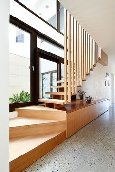 60 Ideas Exterior Stairs Architecture Stairways Woods For 2019 Stairs Architecture, Interior Architecture, Interior Design, Studio Interior, Interior Plants, Luxury Interior, Escalier Design, Exterior Stairs, Entryway Stairs