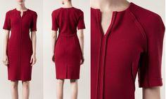 Doña Letizia premiered a split-neck dress from Carolina Herrera (£2446) in Pantone's Colour of the Year, Marsala.