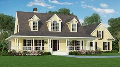 Home Plan HOMEPW07232 - 1991 Square Foot, 3 Bedroom 2 Bathroom + Farmhouse Home with 2 Garage Bays   Homeplans.com
