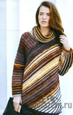 Свитер спицами Crochet Jacket, Knit Crochet, Knitting Designs, Sweater Shirt, Hand Knitting, Knitwear, Knitting Patterns, Sweaters For Women, Shirts