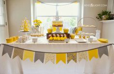 Gray And Yellow Baby Shower! , Lovely Yellow U0026 Gray Baby Shower, DIY Grey U0026 Yellow  Baby Shower , Baby Shower Bend The Light Yel.