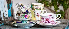 Tea Cups tea set, vintage teacups, tea time, tea parti, teas, vintag tea, tea cup, t2 tea, tea collect