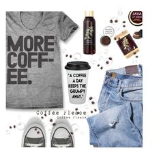 """More Coffee!"" by juliehooper ❤ liked on Polyvore featuring Converse, Java, NARS Cosmetics, Obsessive Compulsive Cosmetics, coffee, polyvoreeditorial, polyvorecontest and statementtshirt"