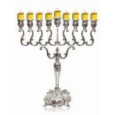 "Ben and Jonah 14"" Lamp Lighters Ultimate Judaica Menorah Size: 20"" H x 16"" W x 4"" D"