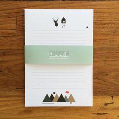 DIN A5 - Notizblock Schwarzwald - ein Designerstück von Heimwerk_Design bei DaWanda