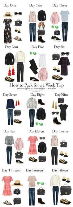 A Complete Europe Packing List - How to transform 21 articles of clothing into 15+ different outfits!