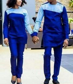 Couples Africana Print Long Sleeve