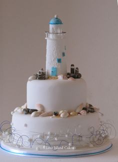 Handcrafted Sugar Lighthouse - Love Island Cakes