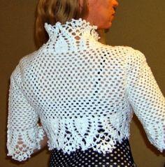 As Receitas de Crochê: Bolero elegante em croche                                                                                                                                                                                 Mais