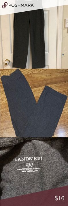 "Women's Lands End Starfish Pants Spandex  XS -2-4 This pair of gray Women's Lands' End Starfish Pants - Cotton Spandex Straight Leg Size Petite XS/P are in excellent ""pre-owned"" condition and have been in a smoke free home.    Features:  • Women's Knit Pants with soft cotton jersey they stretch with ease • Wide elastic waistband lies flat and smooth • Invisible zip pocket at the waist is just the size of a credit card • 89% cotton/11% spandex • Machine wash Thanks for looking! Please visit…"