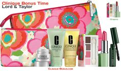 Bonus days at Lord and Taylor! Receive this free gift with $32.00 purchase. Greens of Pinks. http://clinique-bonus.com/other-us-stores/