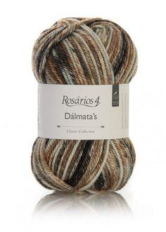 Dálmata´s: 50% Acrylic/Acrílico, 30% Wool/Lã, 20% Mohair