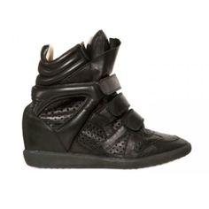 Black Isabel Marant Sneakers Bekket Leather Wedge