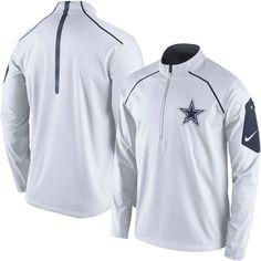 Men's Dallas Cowboys Nike White Alpha Fly Rush Half-Zip Jacket - NFLShop.com