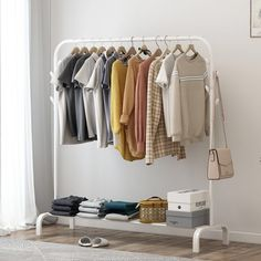 Coat Rack Assembly Bedroom Hanging Clothes Shoes Bags Organize Storage Shelf Wardrobe for Home Furniture Drying Racks Clothes Drying Racks, Hanging Clothes, Clothes Hanger, Clothes Horse, Indian Home Interior, Floor Cloth, Wooden Shelves, Wardrobe Rack, Wardrobe Clothing