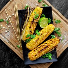 Grilled Cilantro-Lime Corn on the Cob   A Bachelor and His Grill