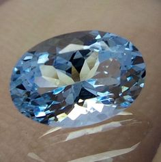 1.1 Carat 8.2X5.6 MM Natural Lustrous GOOD QUALITY Aquamarine Oval Cut Gemstones #AquamarineTraders
