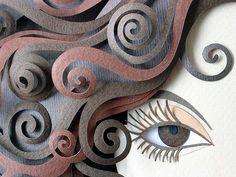 Escultura de papel Detalle - Patricia Lima