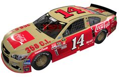 2016 TONY STEWART #14 DARLINGTON THROWBACK SPECIAL PAINT SCHEME