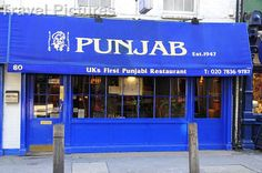 Punjab Restaurant, Covent Garden, London, 2764945, Europe, UK, England, London, Areas, Covent Garden, Eating & Drinking - Stock Photography, Travel Pictures, Images
