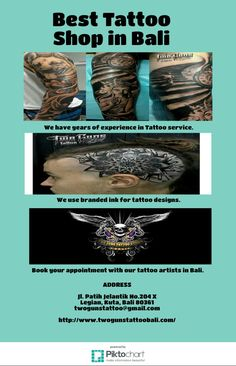 Best Tattoo Shop in Bali  Welcome to the Twogunstattoobali.com, we offer only the best talent with state of the art equipment and ink. We've been known as the best tattoo shop in Bali. http://www.twogunstattoobali.com/