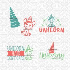 Unicorn Hair Don't Care Horn Unicorny SVG STUDIO Ai EPS Scalable Vector Instant Download Commercial Use Cutting File Cricut Silhouette by CraftyLittleNodes on Etsy
