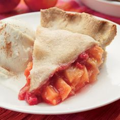 Absolute best pie I've ever had!  Peach-Raspberry Pie.  She also has a link for a really good, easy no-fail piecrust.  Definitely pin this one!!!
