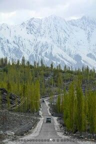 A road to Hisper village, Nagar valley, Hunza-Nagar, Gilgit Baltistan, Pakistan.