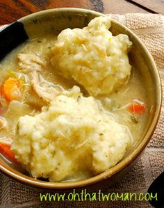 Chicken & Dumplings Chicken And Dumplings, Slow Cooker Recipes, Meal Ideas, Mashed Potatoes, Meals, Ethnic Recipes, Food, Whipped Potatoes, Meal