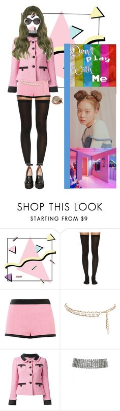 """"""""""" Don't Play With Me"""" Jiwoo Solo Scene"""" by fresh-officiall ❤ liked on Polyvore featuring Wolford, Moschino, ASOS, Jeffrey Campbell and A-Morir by Kerin Rose"""