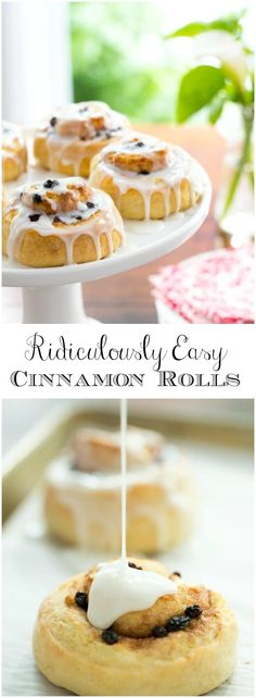 Ridiculously Easy Cinnamon Rolls These no-yeast, no-rise, make-ahead cinnamon rolls employ a secret technique that makes them melt in your mouth delicious! Brunch Recipes, Breakfast Recipes, Dessert Recipes, Desserts, Breakfast Ideas, Bread Machine Cinnamon Rolls, Bread Rolls, Sweet Bread, Eat Cake