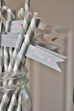 paper straws. For more great party ideas visit GetThePartyStarted at www.getthepartystarted.etsy.com