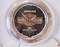 Harley Davidson motorcycle clock with neon tube  white light