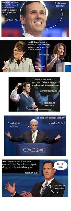 Republicans Violating Scripture