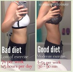Bad diet with lots of exercise vs Good diet with moderate exercise