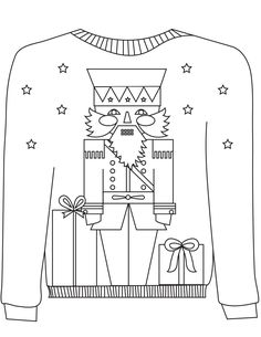 16 Ugly Christmas Sweater Colouring Pages. Combine Adult colouring and Christmas with these fab free festive colouring pages. Free Christmas Coloring Pages, Coloring Pages Winter, Christmas Coloring Sheets, Free Printable Coloring Pages, Colouring Pages, Christmas Doodles, Christmas Books, Christmas Crafts For Kids, Homemade Christmas