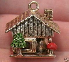 14K Gold Vintage Swiss Chalet House Opens Cheese Inside | eBay