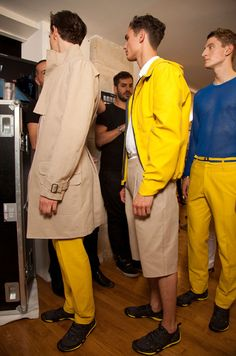 #Yellow #ChristianLacroix Menswear Spring-Summer 2013 #Backstage