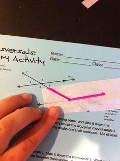 Transversals & Parallel Lines Inquiry Activity