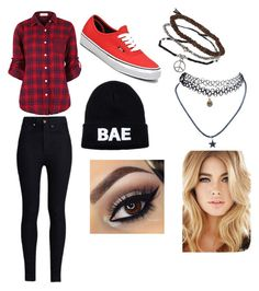 """""""Tomboyish..."""" by simran16111 ❤ liked on Polyvore featuring Topshop, Wet Seal, Rodarte, Domo Beads and Vans"""