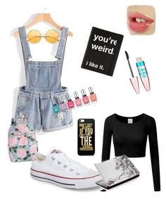 """""""The artist"""" by stardust308 on Polyvore featuring Converse, Maybelline and ban.do"""