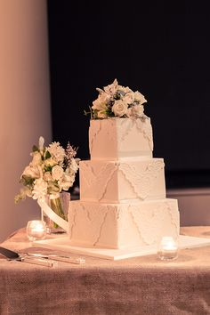 Wedding of Caitlin and Michael. Cake: Frosted Indulgence. Reyment Photography.