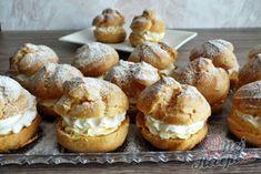 Tradiční recept na domácí větrníky | NejRecept.cz Cookie Desserts, Doughnut, Sweet Tooth, Muffin, Food And Drink, Cookies, Breakfast, Cake, Kochen