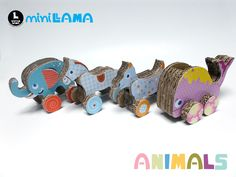 Amazing handmade cardboard animal toys!