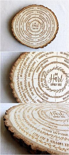 family tree wood sign, family tree art, genealogy chart, ancestry, wood burning, personalized, anniversary gift, custom wedding gift