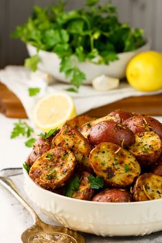 Lemon Parmesan Garlic Roasted Potato Recipe