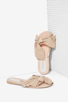 Jeffrey Campbell Mucho Bow Suede Slide