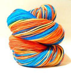 Hand Dyed Yarn - Superwash Merino Classic Sock Yarn in Dragonfly - Preorder.. $21.00, via Etsy. (SunriseFiberCo)