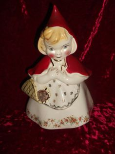 Hull Ware Little Red Riding Hood #967 Vintage Cookie Jar 1940-50's. Cookie Jar is $125 or Best Offer. This item is beautiful go see it at my store Cherishedcollectibles4U. Item No:121306151542 on eBay or Follow this link http://cgi.ebay.com/ws/eBayISAPI.dll?ViewItem&item=121306151542
